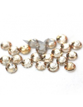 Champagne - 144 kameňov / 1 gross  (veľkosť 7 až 7,2 mm) SS34