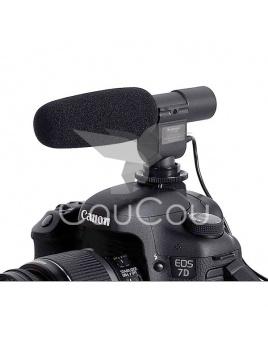 Profesionalny mikrofon SG-108 s mikrofónovým vstupom 3.5mm na Canon, Nikon a iné zariadenia