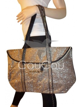 Victoria's Secret zlatá glitrovaná kabelka (Limitovaná edícia)
