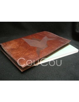 Budry - ručne vyrábaný diár / zápisník z kože byvola (A4)