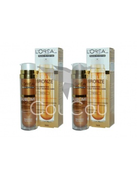 2x L'Oreal Sublime Bronze Illuminating Self Tanning Care 50ml Tinted