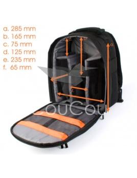 Paris bag - taška na chrbát pre váš DSLR fotoaparát / batoh na foťák